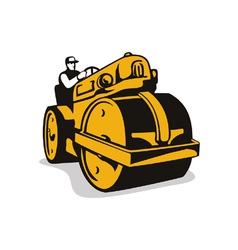 Vintage Road Roller Retro vector