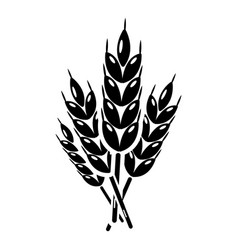 wheat icon simple style vector image