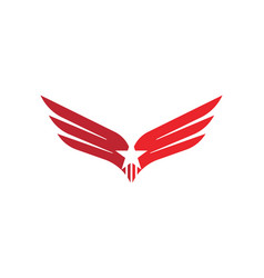 Wing falcon logo template vector