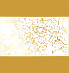 yekaterinburg russia city map in retro style vector image