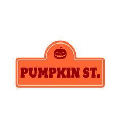 house halloween nameplate vector image