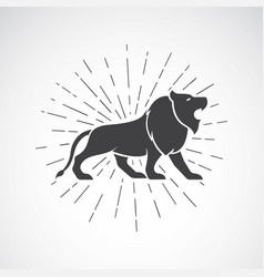 lion on white background animal lion symbol vector image