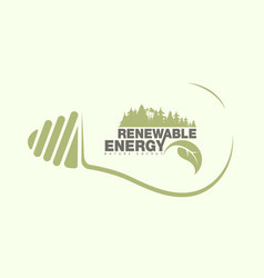 renewable energy of earth in bulb the concept vector image