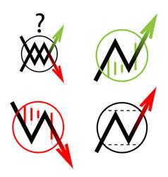 set icon arrow up down move vector image vector image