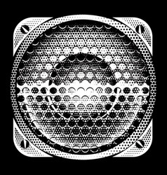 stylish detailed with speaker vector image