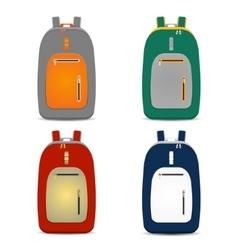 backpack set vector image