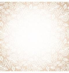 lace frame on beige background vector image