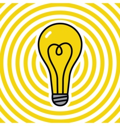 Lamp on yellow ripple background vector image vector image