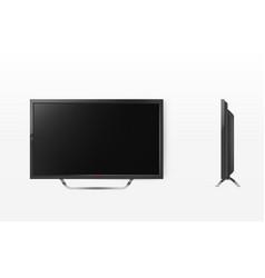 lcd screen mockup tv plasma television vector image