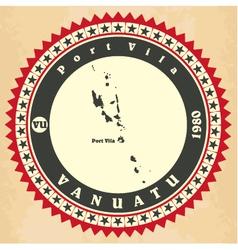Vintage label-sticker cards of Vanuatu vector image