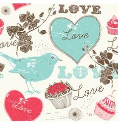 Vintage Love Background vector image vector image