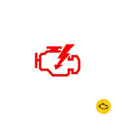 Check engine sign vector