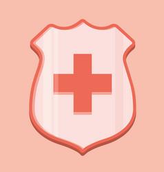medical shield icon vector image