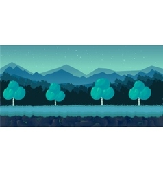 Night Forest Game Background for 2d application vector image vector image