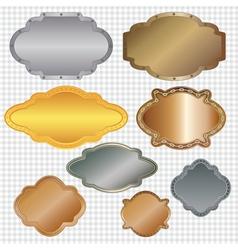 set of framed labels vector image vector image