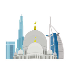 united arab emirates travelling banner landscape vector image