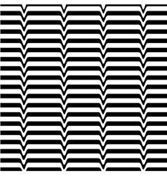 White black wave abstract line optical background vector