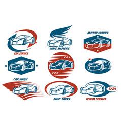 car service emblem set vector image