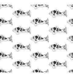 carp on white background vector image
