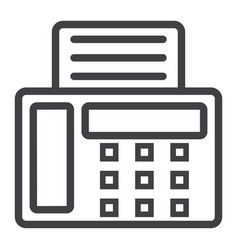 fax line icon contact us and website vector image