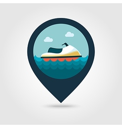 Jet Ski pin map icon Summer Vacation vector image