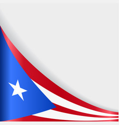 puerto rican flag background vector image vector image