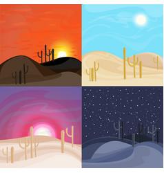 sand desert landscape templates vector image vector image