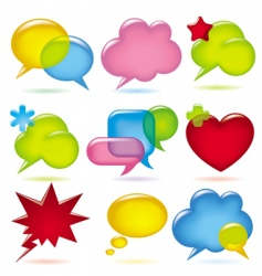 speak bubbles vector image vector image