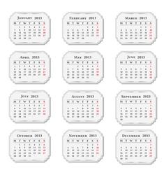 2013 Calendar vintage style vector