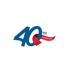 40 th anniversary template design vector