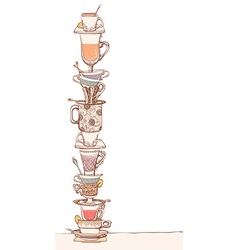 A pile of cups vector