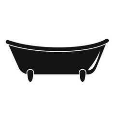 baby bathtube icon simple style vector image