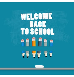 Back to school Blue Background vector image
