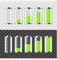 battery charging isolated on white and dark vector image