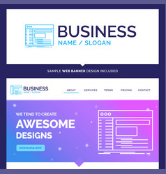 Beautiful business concept brand name admin vector
