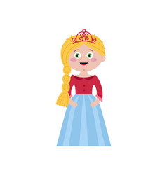 beautiful princess in elegant tiara vector image