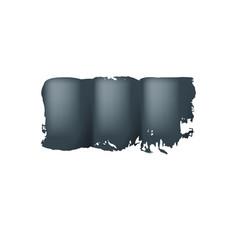 brush stroke of black paint on white background vector image