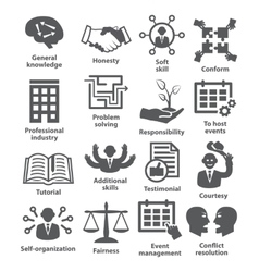Business management icons Pack 22 vector