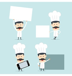 Chef show blank board for use in advertising vector
