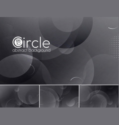 Circle abstract background - black vector