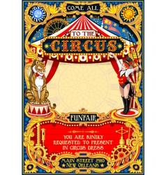 Circus Carnival Invite vintage 2d AurielAki vector
