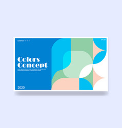 colorful background in geometric style creative vector image