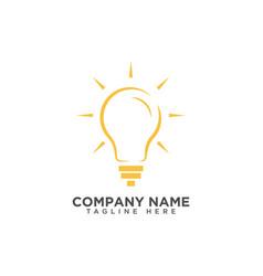 Creative light bulb idea logo design template vector
