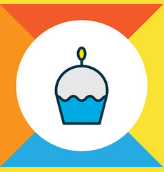 cupcake icon colored line symbol premium quality vector image