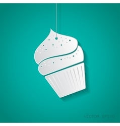 cupcake icon Eps10 vector image
