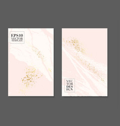 Decoration cards design in pink white soft colors vector