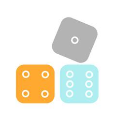 Dices glyph color icon vector
