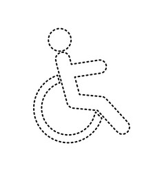 disabled sign black dashed vector image