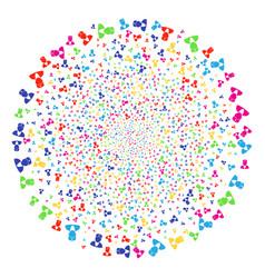 doctor fireworks spheric cluster vector image