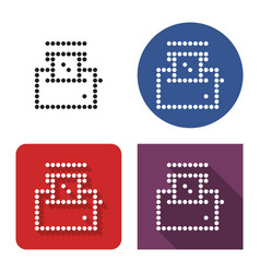 Dotted icon toaster in four variants vector